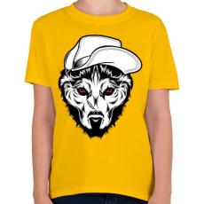 PRINTFASHION Kalapos farkas - Gyerek póló - Sárga
