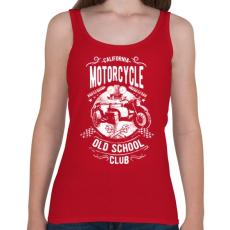 PRINTFASHION Kaliforniai öreg motorosok - Női atléta - Cseresznyepiros
