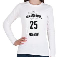 PRINTFASHION kamasz-25-black-white - Női hosszú ujjú póló - Fehér