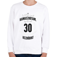 PRINTFASHION kamasz-30-black-white - Gyerek pulóver - Fehér