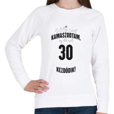 PRINTFASHION kamasz-30-black-white - Női pulóver - Fehér