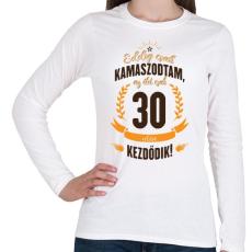PRINTFASHION kamasz-30-brown-orange - Női hosszú ujjú póló - Fehér