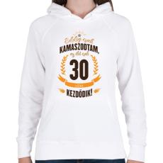PRINTFASHION kamasz-30-brown-orange - Női kapucnis pulóver - Fehér