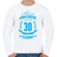 PRINTFASHION kamasz-30-cyan - Férfi pulóver - Fehér