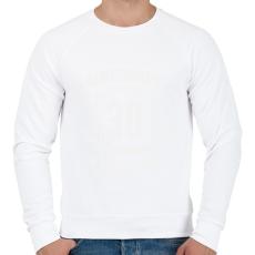 PRINTFASHION kamasz-30-white - Férfi pulóver - Fehér