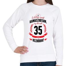PRINTFASHION kamasz-35-black-red - Női pulóver - Fehér