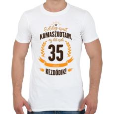 PRINTFASHION kamasz-35-brown-orange - Férfi póló - Fehér