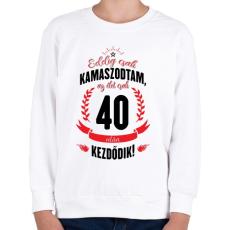 PRINTFASHION kamasz-40-black-red - Gyerek pulóver - Fehér
