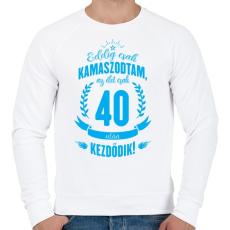 PRINTFASHION kamasz-40-cyan - Férfi pulóver - Fehér