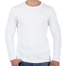PRINTFASHION kamasz-40-white - Férfi hosszú ujjú póló - Fehér