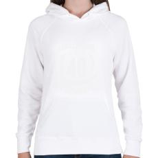 PRINTFASHION kamasz-40-white - Női kapucnis pulóver - Fehér