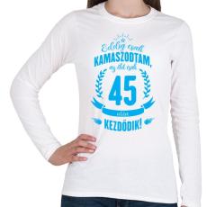 PRINTFASHION kamasz-45-cyan - Női hosszú ujjú póló - Fehér