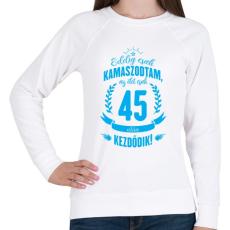 PRINTFASHION kamasz-45-cyan - Női pulóver - Fehér