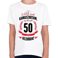 PRINTFASHION kamasz-50-black-red - Gyerek póló - Fehér