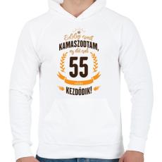 PRINTFASHION kamasz-55-brown-orange - Férfi kapucnis pulóver - Fehér