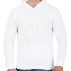 PRINTFASHION kamasz-55-white - Férfi kapucnis pulóver - Fehér