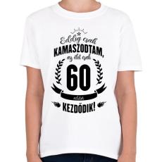 PRINTFASHION kamasz-60-black - Gyerek póló - Fehér