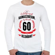 PRINTFASHION kamasz-60-black-red - Férfi hosszú ujjú póló - Fehér