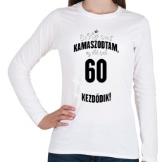 PRINTFASHION kamasz-60-black-white - Női hosszú ujjú póló - Fehér