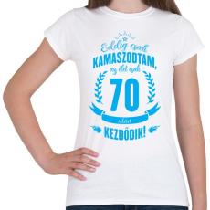 PRINTFASHION kamasz-70-cyan - Női póló - Fehér