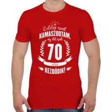 PRINTFASHION kamasz-70-white - Férfi póló - Piros
