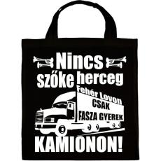 PRINTFASHION Kamionos Fehér - Vászontáska - Fekete
