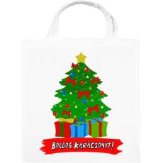 PRINTFASHION karácsonyfa - Vászontáska - Fehér