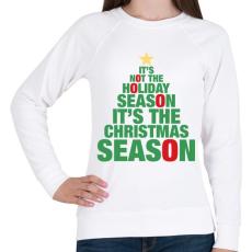PRINTFASHION Karácsonyi szezon - Női pulóver - Fehér