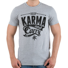 PRINTFASHION Karma - Férfi póló - Sport szürke