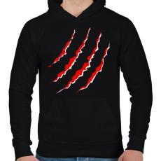 PRINTFASHION KARMOL - Férfi kapucnis pulóver - Fekete