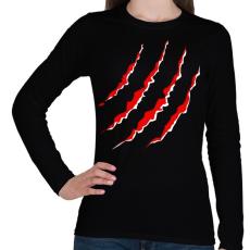 PRINTFASHION KARMOL - Női hosszú ujjú póló - Fekete