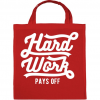 PRINTFASHION Kemény munka kifizetődő - Vászontáska - Piros