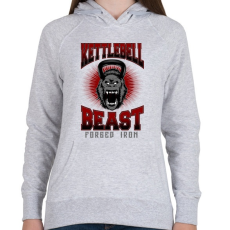 PRINTFASHION Kettlebell szörny - Női kapucnis pulóver - Sport szürke