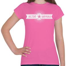 PRINTFASHION kezdo-anyuka-white - Női póló - Rózsaszín
