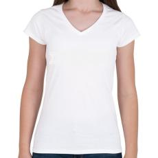 PRINTFASHION kezdo-apuka-white - Női V-nyakú póló - Fehér