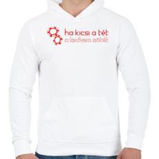 PRINTFASHION kicsi-a-tet-red-white - Férfi kapucnis pulóver - Fehér