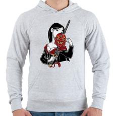 PRINTFASHION Kínai hercegnő - Férfi kapucnis pulóver - Sport szürke