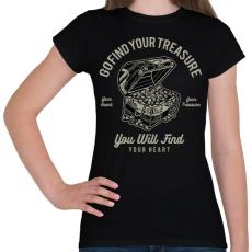 PRINTFASHION Kincsesláda - Női póló - Fekete