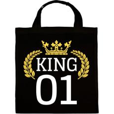 PRINTFASHION KING 01 - Vászontáska - Fekete