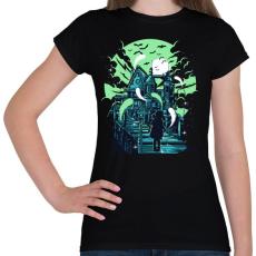 PRINTFASHION Kísértetház - Női póló - Fekete