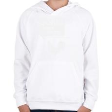 PRINTFASHION kiskakas-white - Gyerek kapucnis pulóver - Fehér