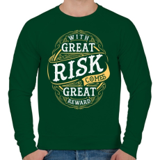 PRINTFASHION Kockázat - Férfi pulóver - Sötétzöld