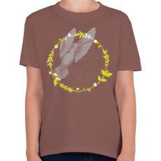 PRINTFASHION Kolibri madár - Gyerek póló - Mogyoróbarna