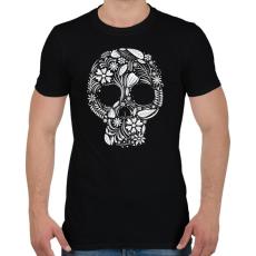 PRINTFASHION Koponya - Férfi póló - Fekete