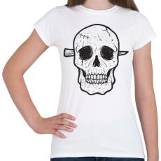 PRINTFASHION Koponya - Női póló - Fehér