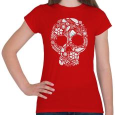 PRINTFASHION Koponya - Női póló - Piros