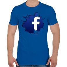 PRINTFASHION Közösségi háló - Férfi póló - Királykék