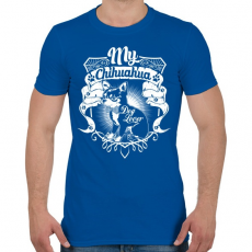 PRINTFASHION Kutyabarát - Férfi póló - Királykék