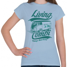 PRINTFASHION Lakókocsi - Női póló - Világoskék