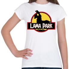 PRINTFASHION Lama Park - Női póló - Fehér